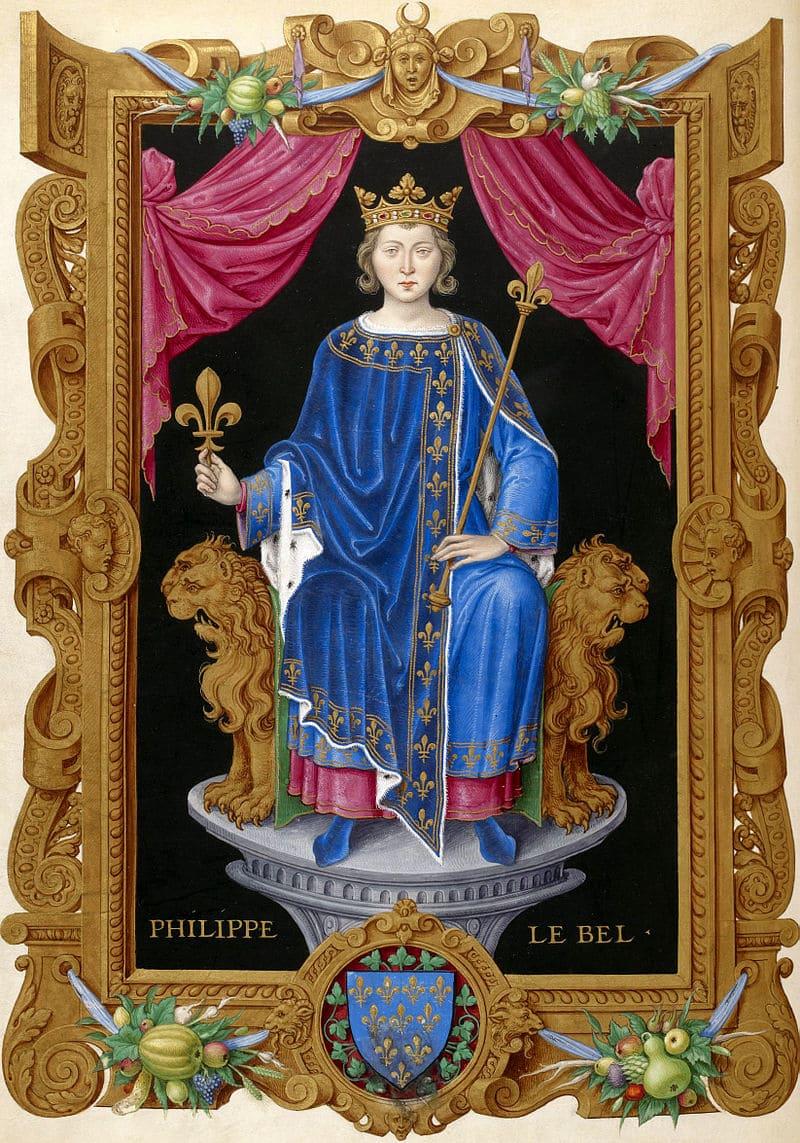 Король Филипп IV Красивый, из книги Жана де Тилле «Короли Франции»