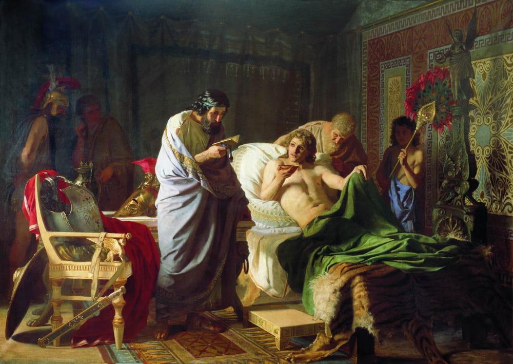Генрих Семирадский «Доверие Александра Македонского к врачу Филиппу»