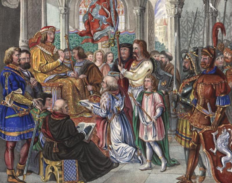 Иоганн Георг Хильтеншпергер «Альбрехт III отказывается от чешской короны в 1440 году»