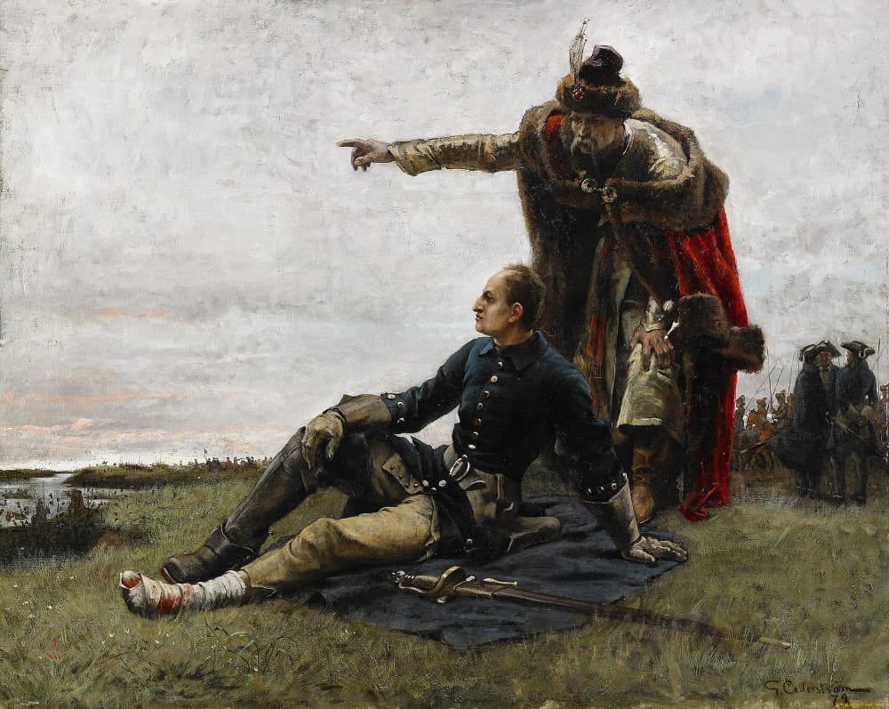 Густав Улоф Седерстрём «Карл XII и гетман Мазепа после Полтавской битвы»