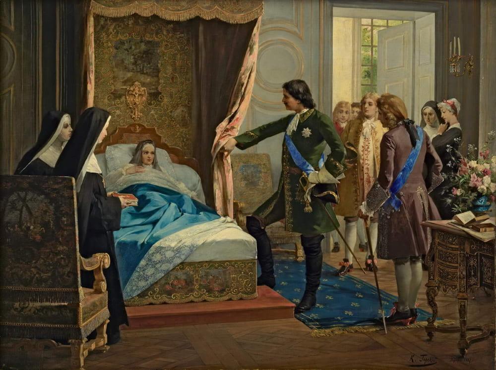Константин Горский «Пётр Первый наносит визит маркизе де Ментенон в 1717 году»