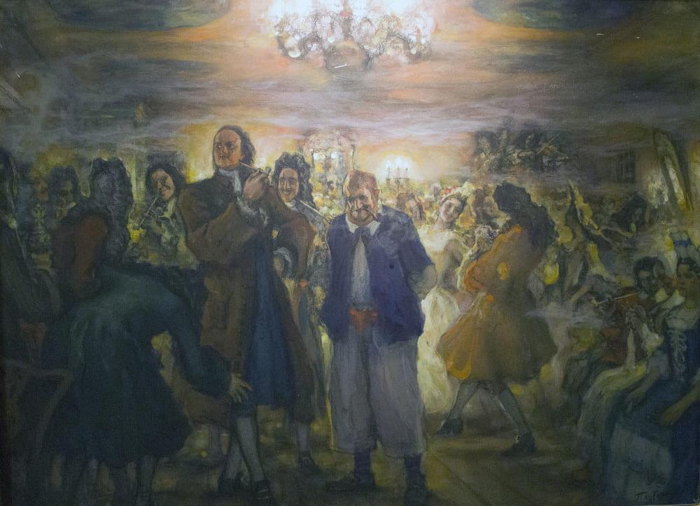Леонид Пастернак «Ассамблея при Петре I»