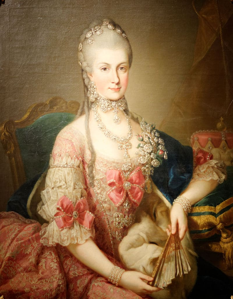 Мартин ван Майтенс «Портрет герцогини Тешенской Марии Кристины»