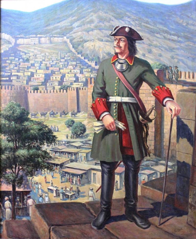 Мелик-Мамед Агабалаев «Петр I на крепости»
