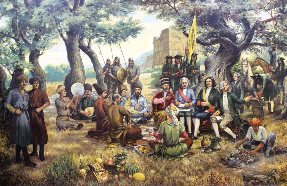 Мелик-Мамед Агабалаев «Петр I в Джалганской роще»