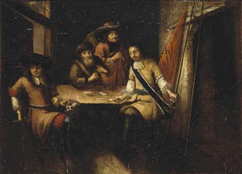 Неизвестный художник «Беседа Петра I в Голландии»