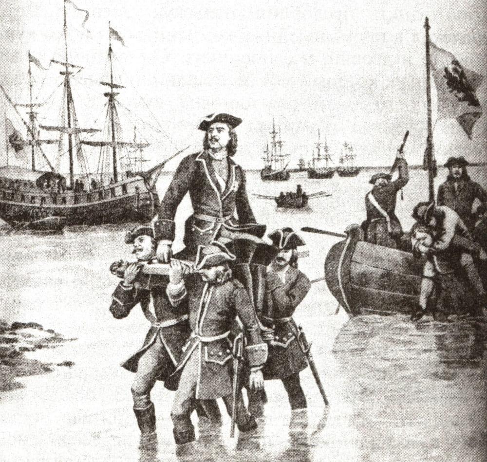 Николай Дмитриевич Дмитриев-Оренбургский «Петр I высаживается на берег»