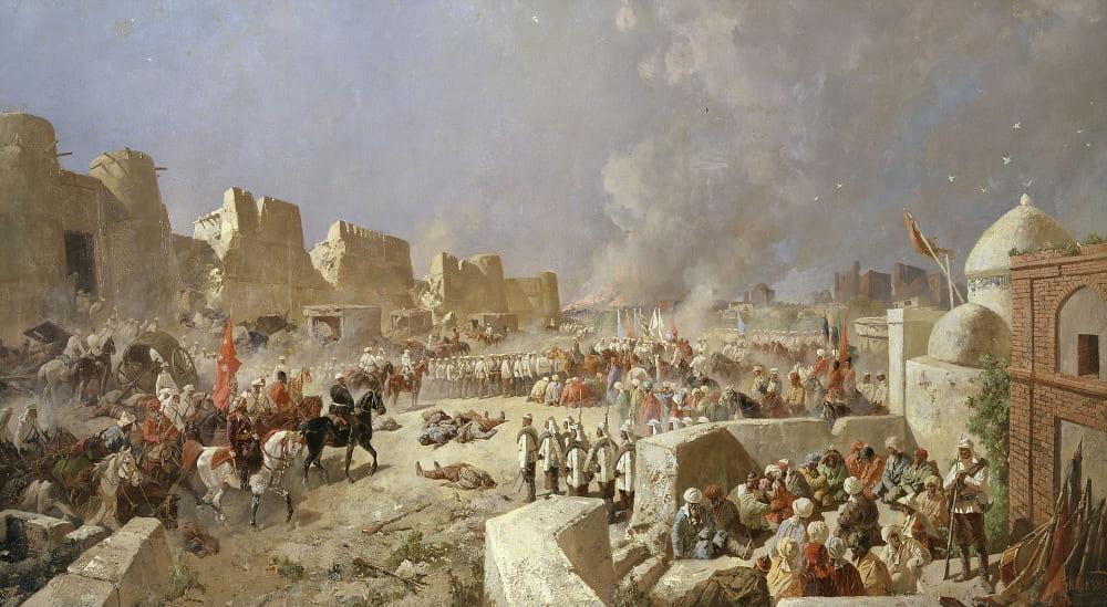 Николай Каразин «Вступление русских войск в Самарканд»