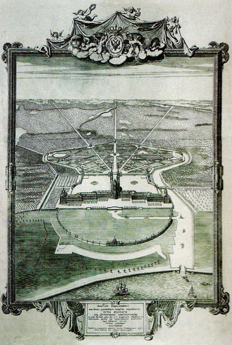 План застройки монастыря, 1720-е годы