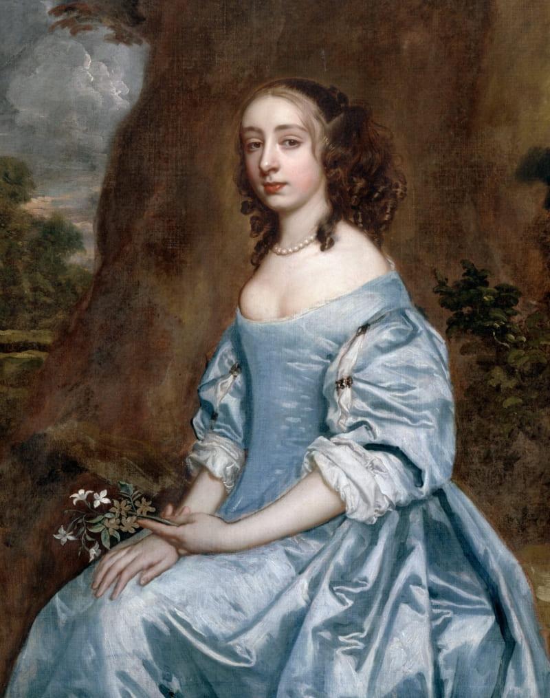 Сэр Питер Лели «Портрет леди в голубом с цветком», XVII век (не является портретом Арабеллы)