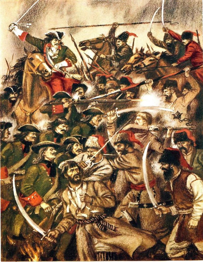 Сергей Бордюг «Бой между царской армией и казаками»