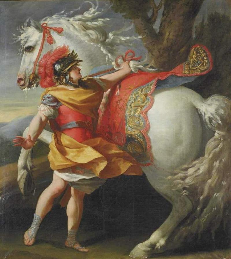 Симон Вуэ «Александр Великий и его конь Буцефал»