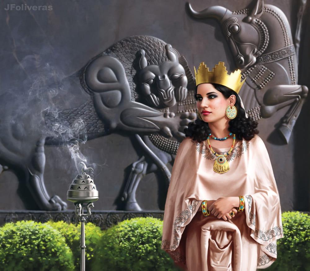 Статира была дочерью последнего персидского царя Ахеменидов Дария III и второй женой Александра Македонского / © Joan Francesc Oliveras Pallerols / jfoliveras.artstation.com