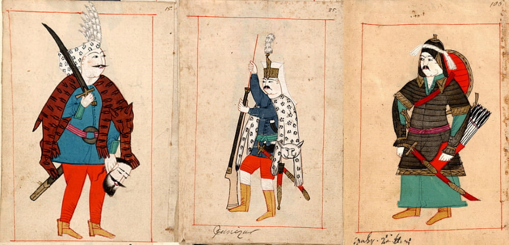 Турецкий солдат, янычар и сипах (турецкая тяжёлая кавалерия)