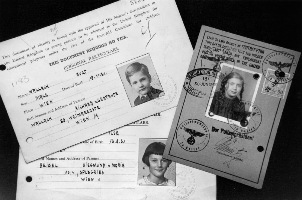 Временные документы для беженцев «Киндертранспорта»,1939 год