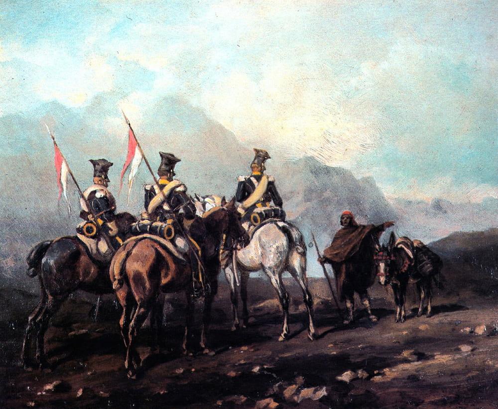 Юлиуш Коссак «Патруль уланов Вислинского легиона в Испании»
