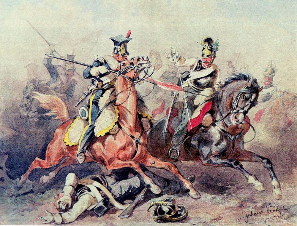 Юлиуш Коссак «Уланы в бою»