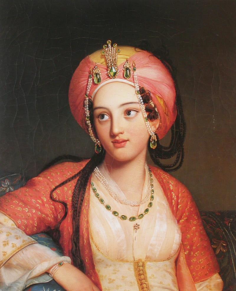 Эжен Девериа «Молодая восточная красавица» (не является портретом Хатидже-султан)
