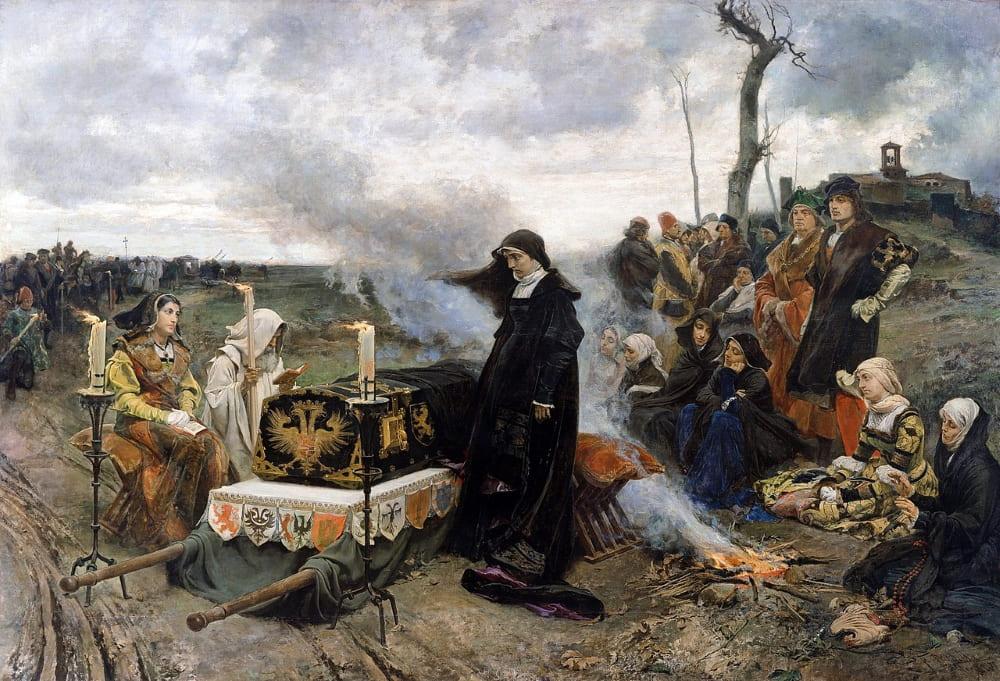 Франциско Прадилья «Хуана над гробом мужа» / Музей Прадо, Мадрид, Испания