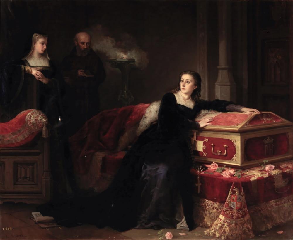 Габриэль Маурета Арасиль «Хуана возле гроба своего мужа Филиппа Красивого» / Музей Прадо, Мадрид, Испания