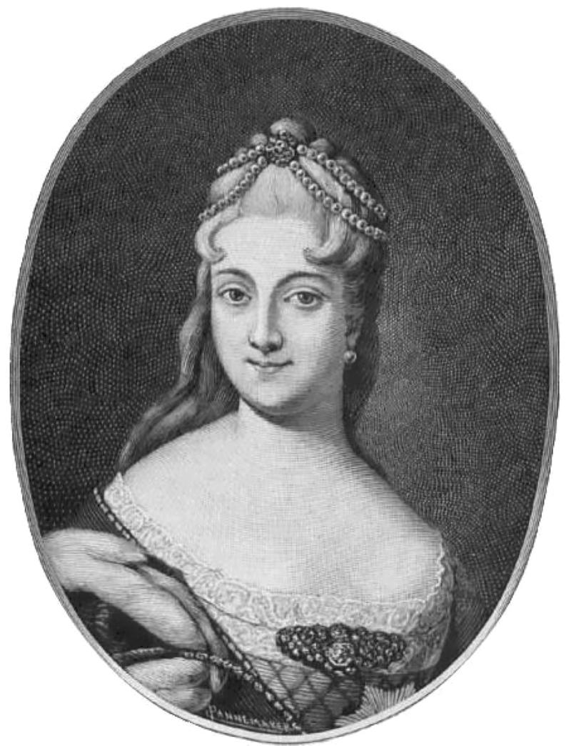 Гравюра «Екатерина Алексеевна Долгорукова, невеста Петра II» / Эрмитаж, Санкт-Петербург