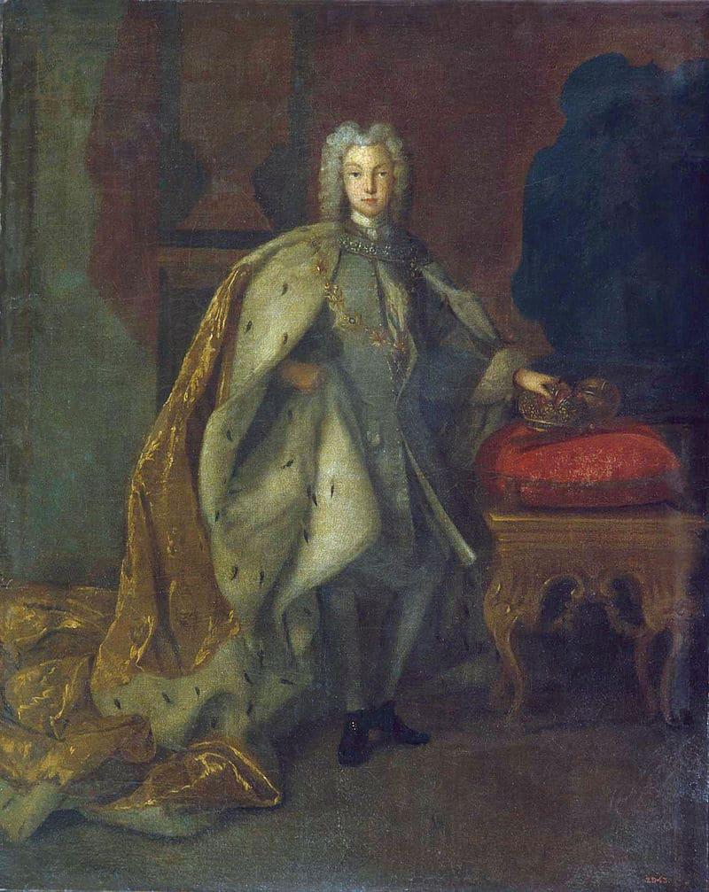 Иоганн Пауль Людден «Портрет Петра II в горностаевой мантии с цепью ордена святого Андрея Первозванного»