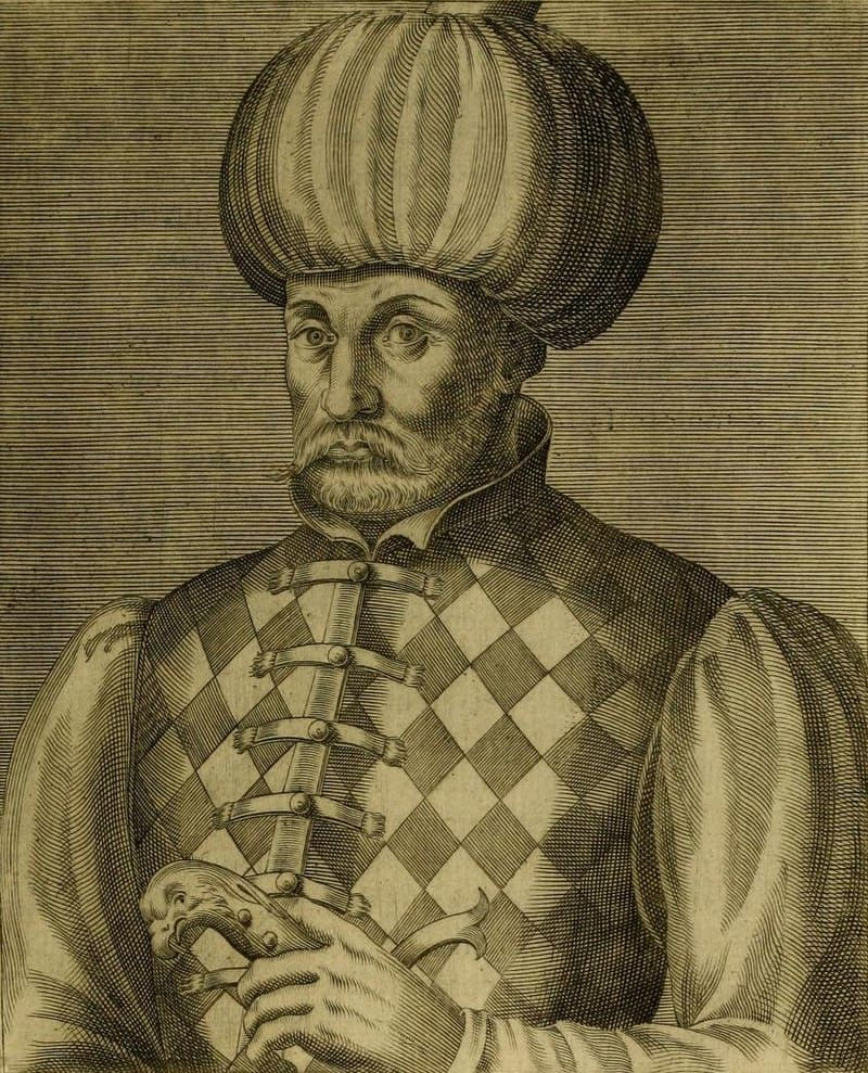 Изображение шехзаде Мустафы из книги французского путешественника Андре Теве