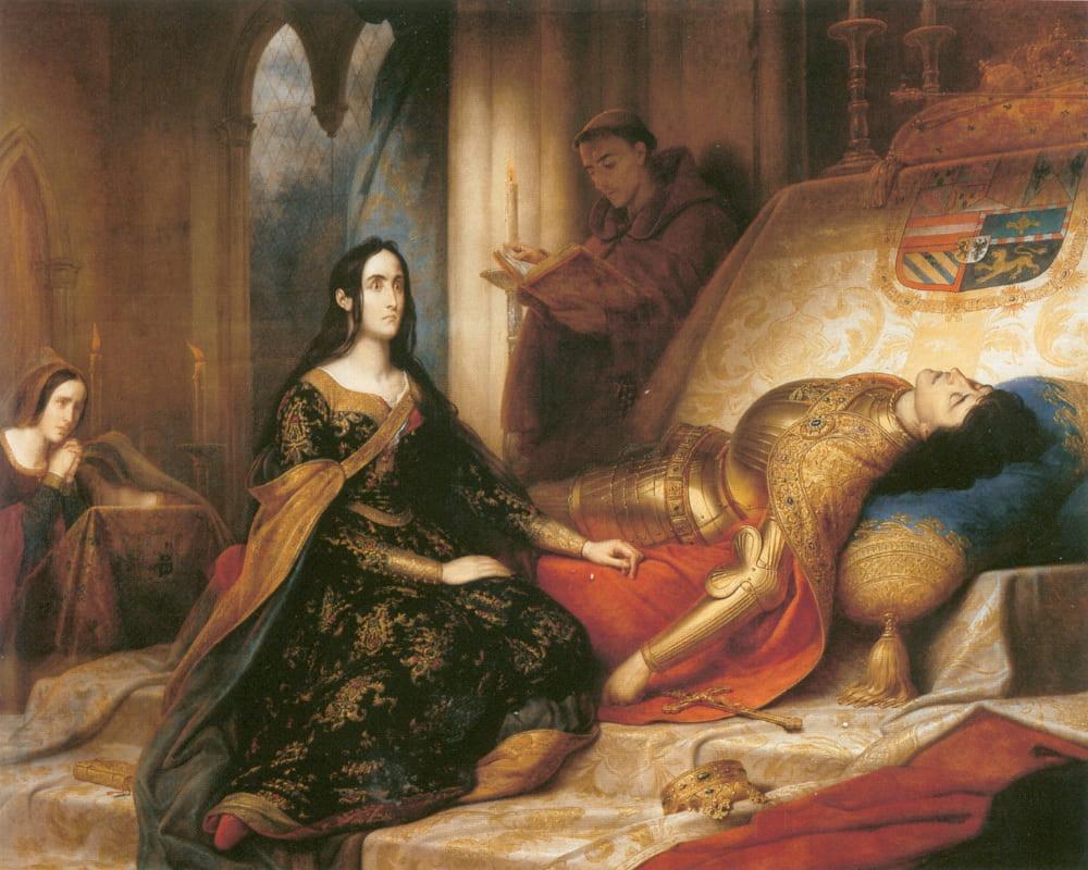 Карл Штейбен «Хуана Безумная возле тела мужа» / Дворец изящных искусств Лилля, Франция