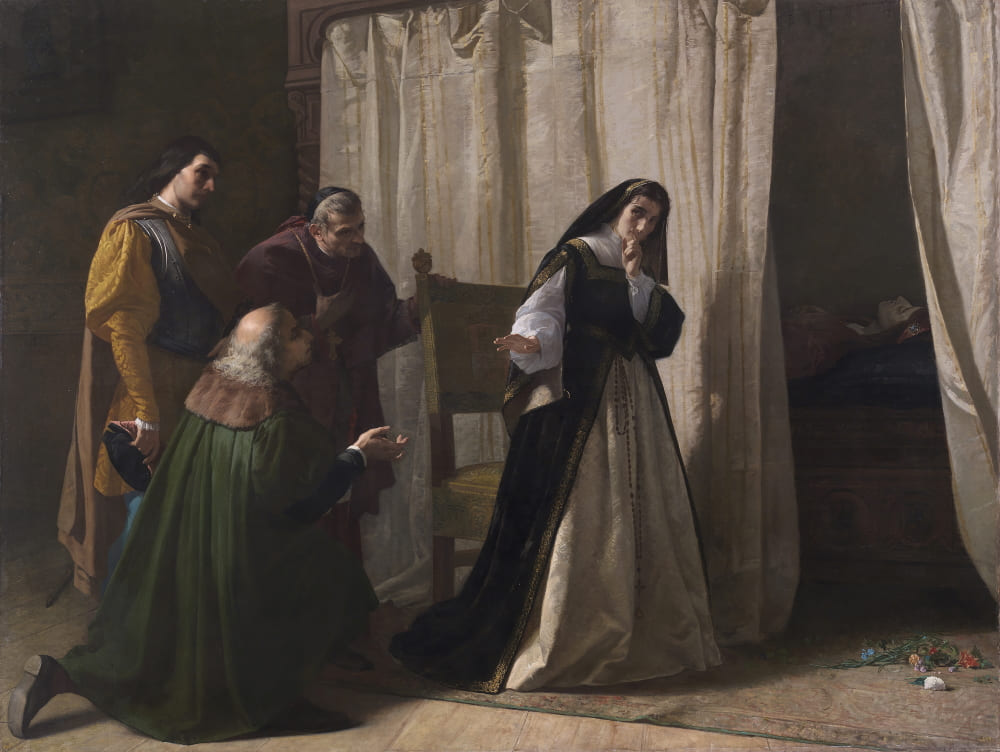 Лоренцо Валлес «Деменция Хуаны Кастильской» / Музей Прадо, Мадрид, Испания