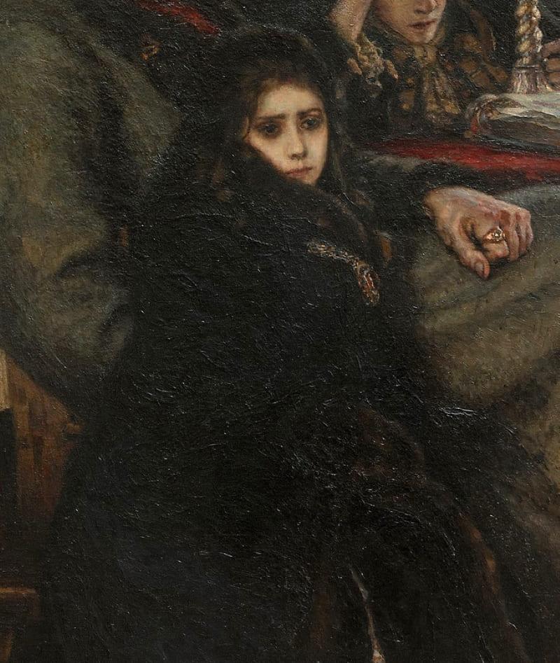 Мария Меншикова в ссылке, фрагмент картины Василия Сурикова «Меншиков в Берёзове»
