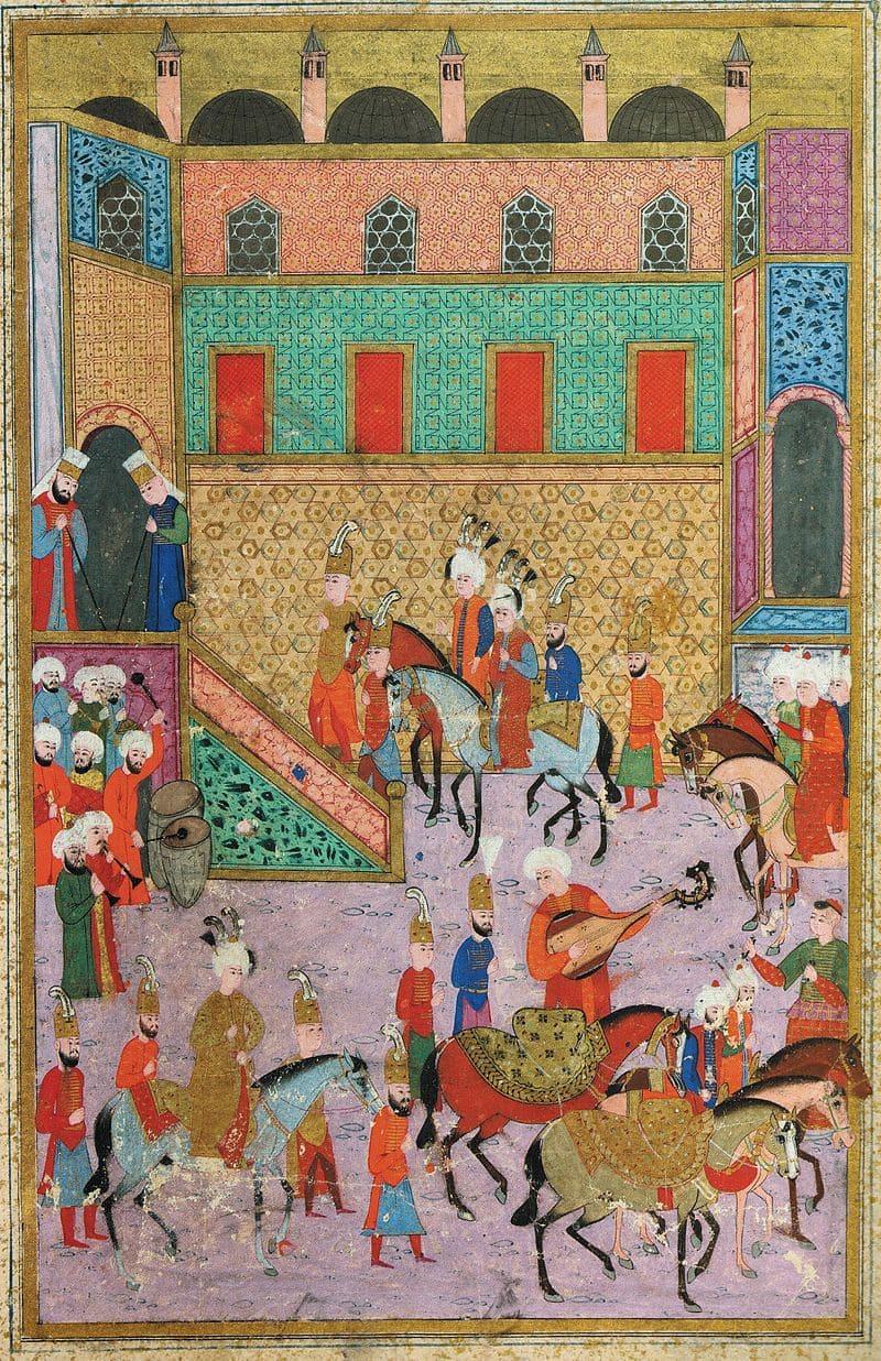 Праздник обрезания для Мустафы и его братьев Мехмеда и Селима в 1530 году / Библиотека музея Дворца Топкапы