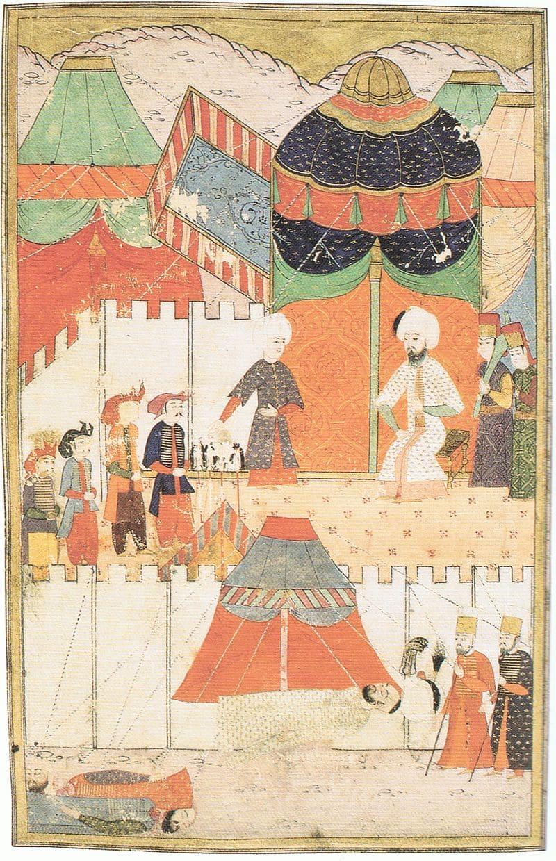 Палачи докладывают султану Сулейману о выполнении приказа