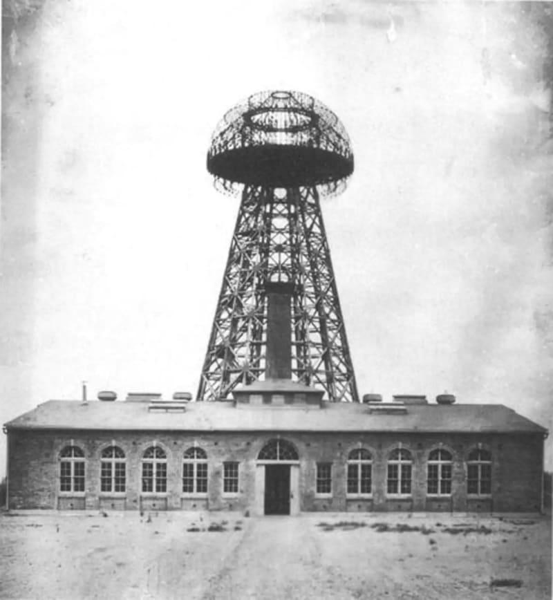 Башня Ворденклиф или башня Теслы, фото 1904 года