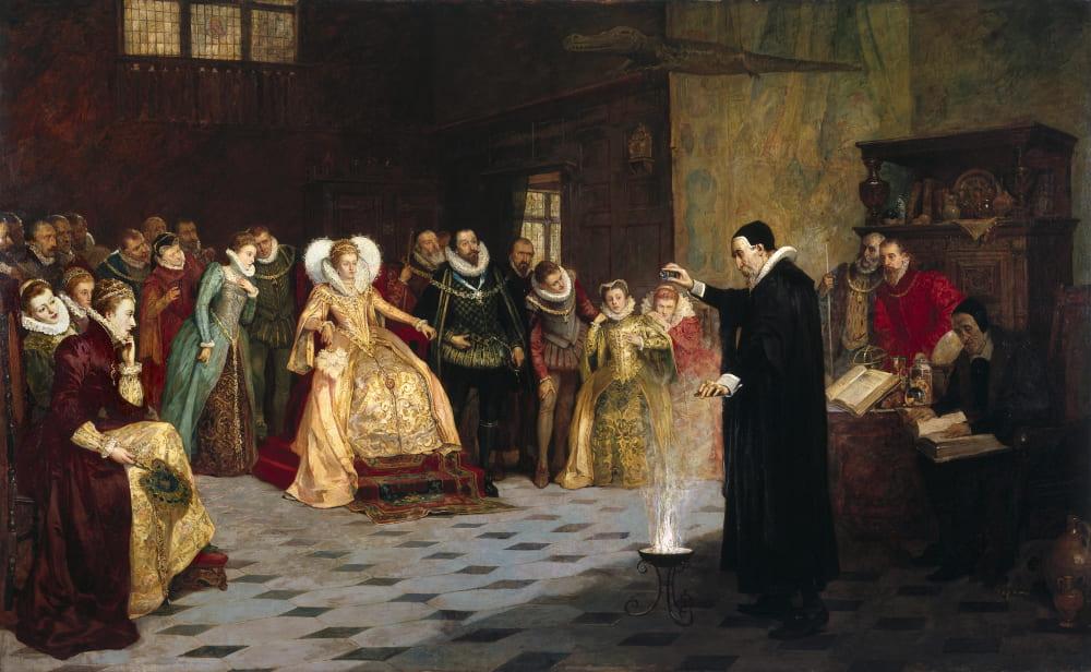 «Джон Ди, проводящий эксперимент перед королевой Елизаветой I» / Музей «Коллекция Велкома», Англия