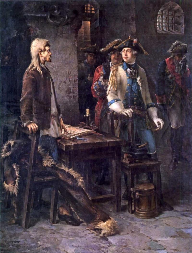 Федор Буров «Петр III посещает Иоанна Антоновича в Шлиссельбургской крепости»