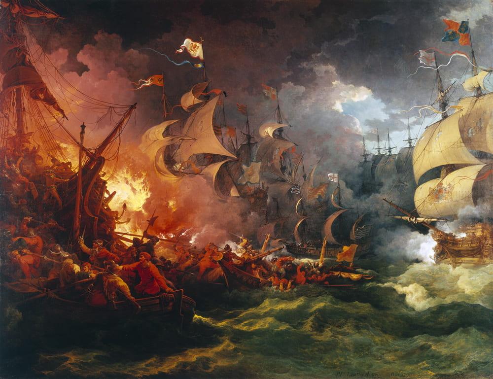 Филипп Якоб де Лютербург «Поражение испанской армады, 8 августа 1588 года» / Национальный морской музей, Лондон
