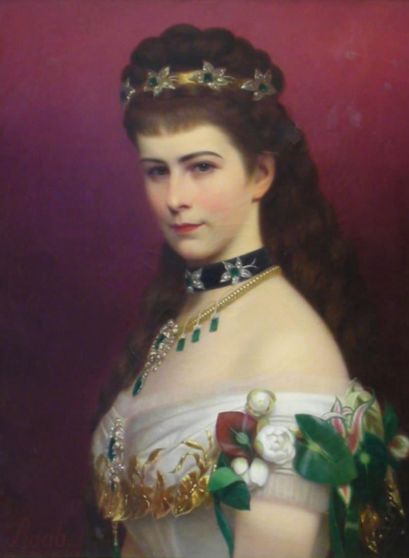 Георг Рааб «Портрет императрицы Елизаветы Баварской» / Львовская галерея искусств, Украина