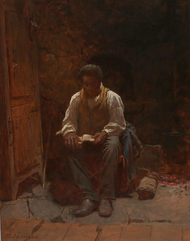 Истмен Джонсон «Господь — пастырь мой» (одна из картин художника, направленная против рабства) / Смитсоновский музей американского искусства, США
