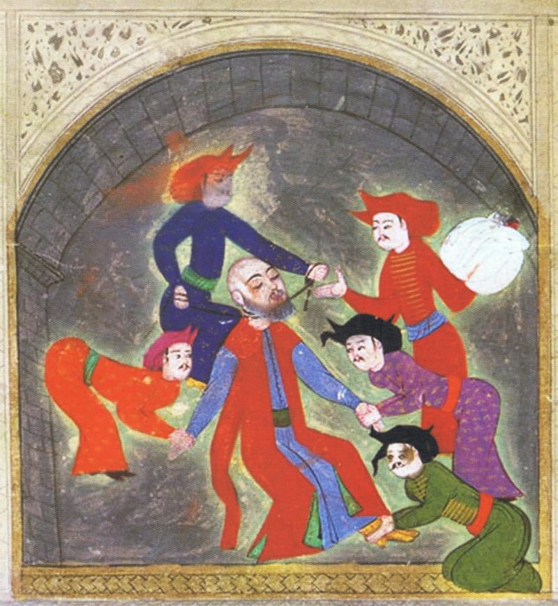 Казнь великого визиря Кара Ахмеда-паши. Из рукописи Хюнер-наме / Библиотека музея Дворца Топкапы