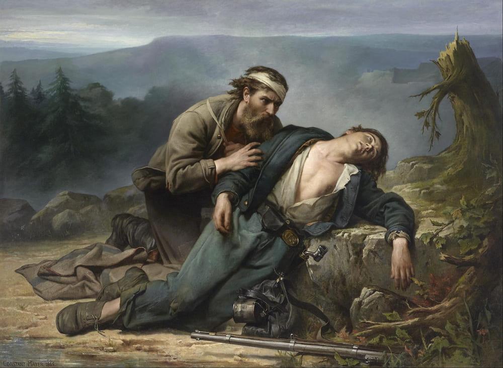 Констан Майер «Признание: Север и Юг» / Музей изящных искусств Хьюстона, США