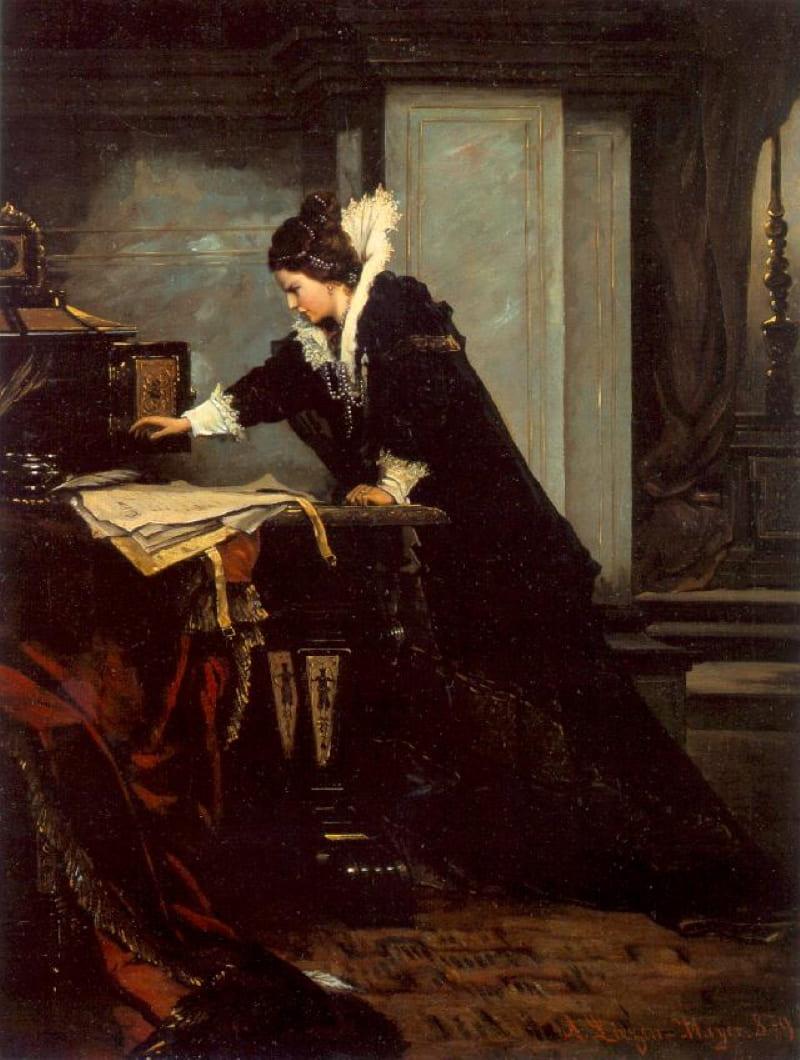 Шандор Лизен-Майер «Королева Елизавета подписывает Смертный приговор Марии Стюарт» / Венгерская национальная галерея, Будапешт