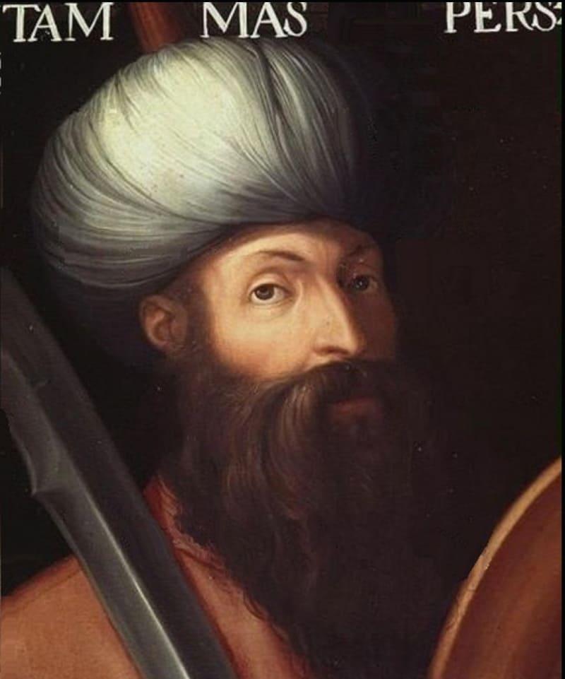 Кристофано дель Альтиссимо «Портрет шаха Тахмаспа» / Королевская галерея Уффици, Флоренция.