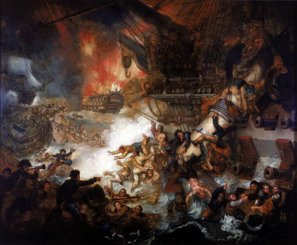 Мэтер Браун «Битва на Ниле 1 августа 1798 года»