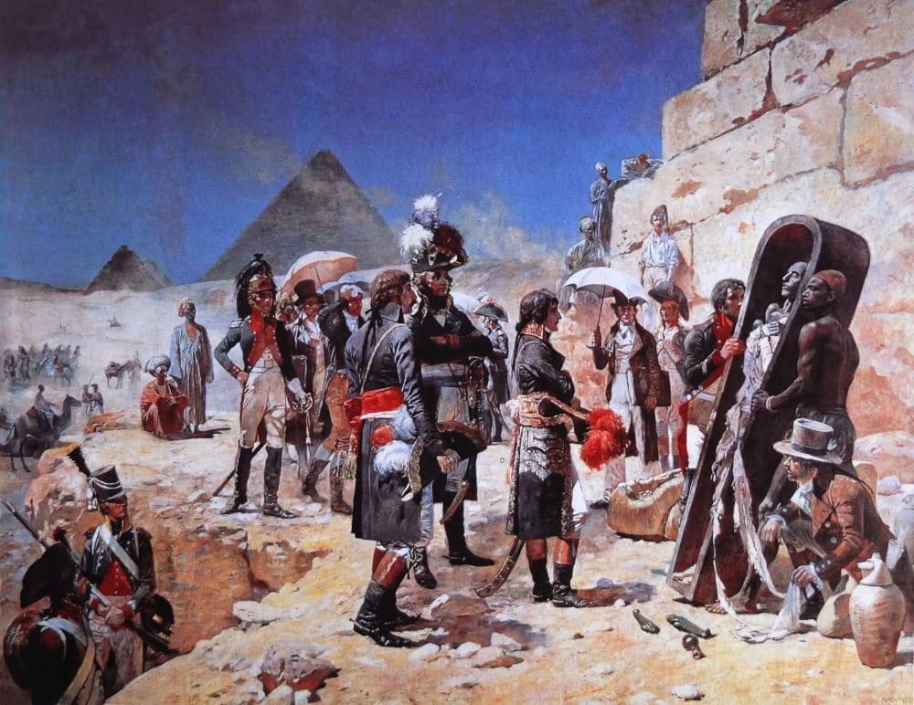 Морис Оранж «Наполеон у пирамид»