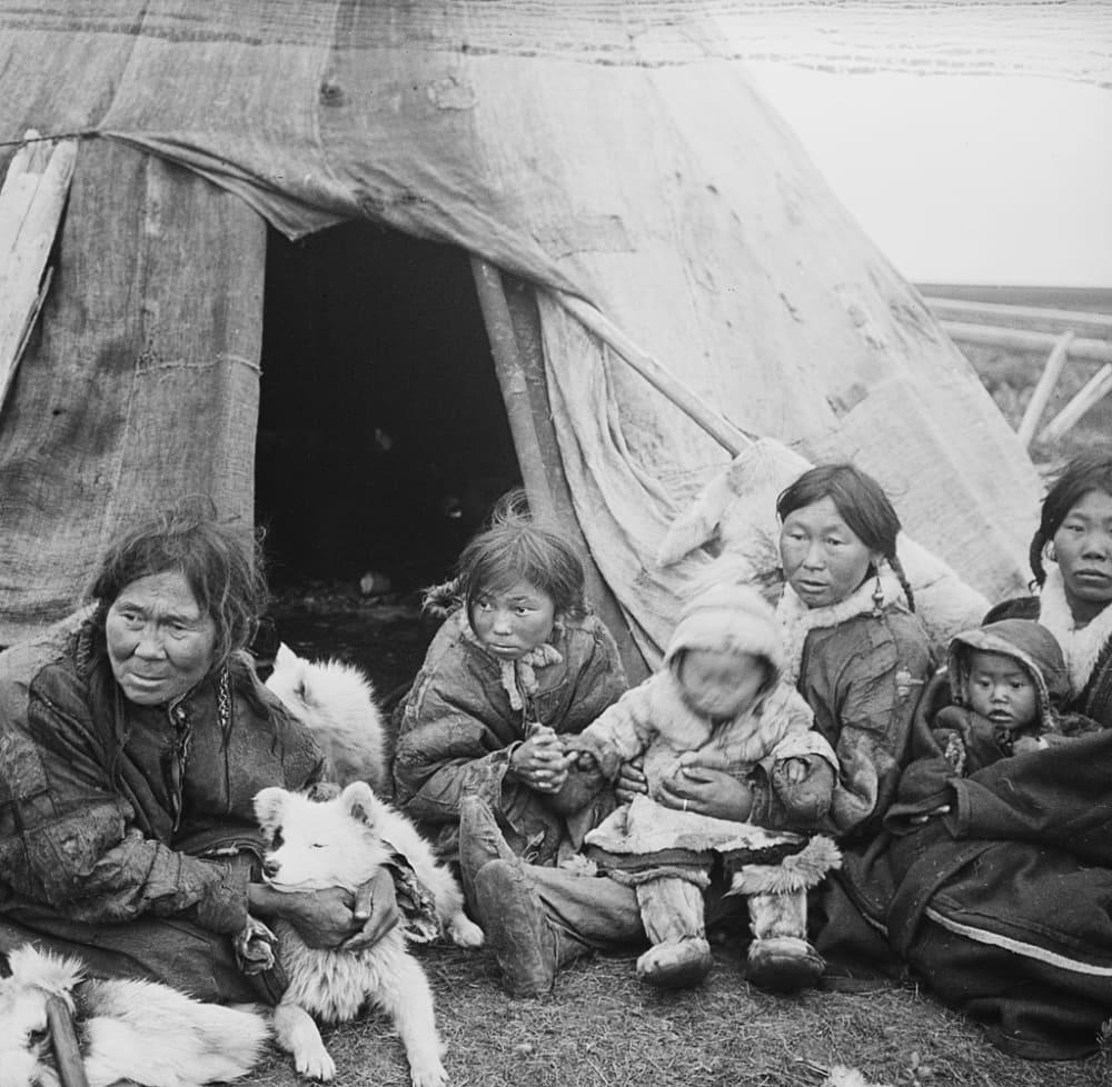 Ненцы в 1913 году / Национальная библиотека Норвегии, фотограф Фритьоф Нансен