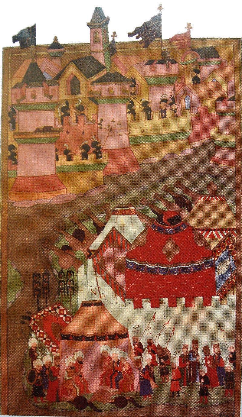 Осада Вены турецкими войсками. Турецкая миниатюра