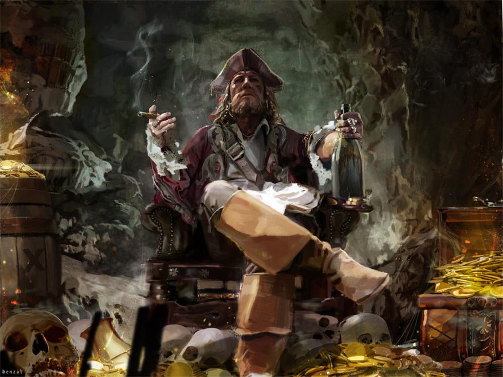 Пират со своими сокровищами / ©Disney / David Benzal / davidbenzal.artstation.com