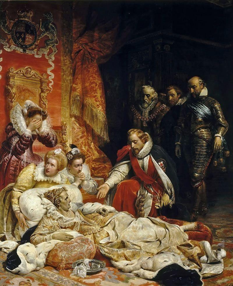 Поль Деларош «Смерть королевы Елизаветы I» / Лувр, Париж