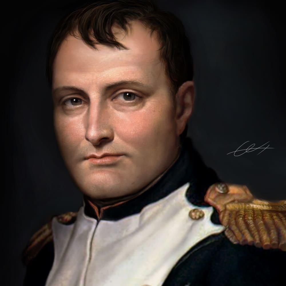 Портрет Наполеона Бонапарта / © bark ross / barkross.artstation.com