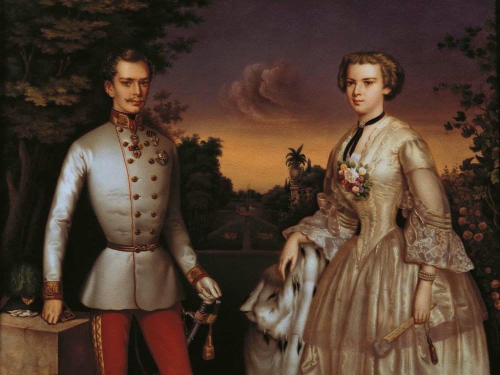 Портрет императора Франца-Иосифа и его жены Елизаветы